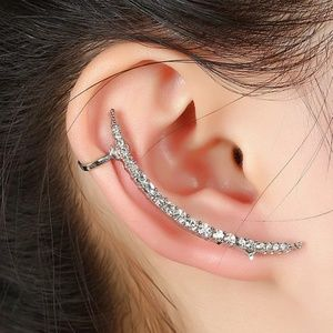 Crystal cuff climber earring